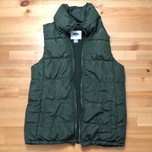 Old Navy Puffer Green Fall Vest